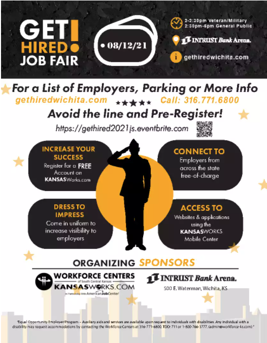Get Hired job seeker flyer please call 316-771-6658 with questions